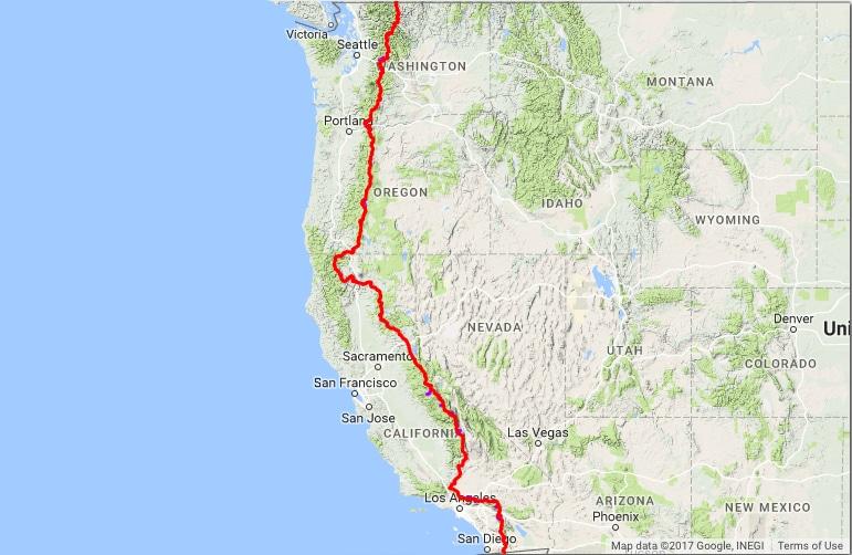 Pacific Crest Trail, Pacific Crest Trail med Rod Clemen.