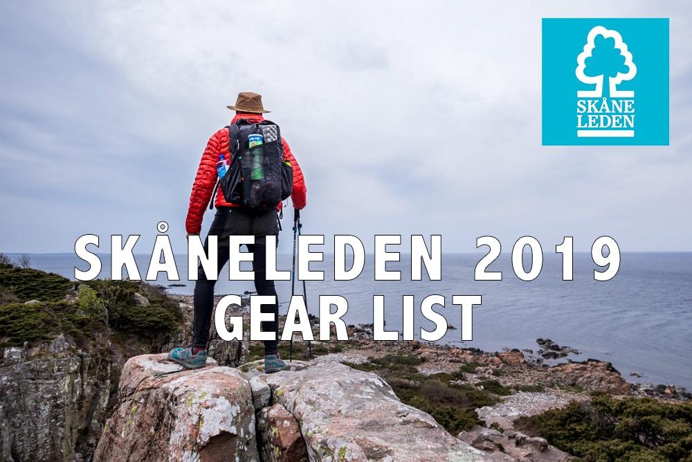 Kustleden - Skaaneleden 2019 gear list
